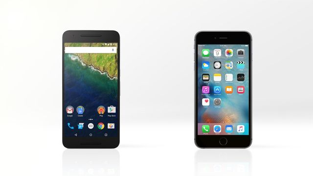 Compare smartphones: Nexus 6P and iPhone 6s Plus