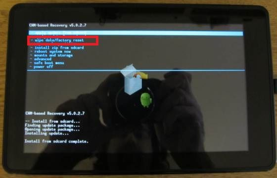 Hard reset Kindle Fire HD