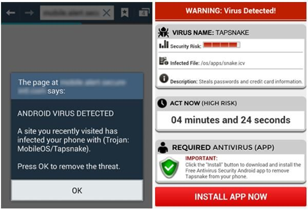 Notification about viruses on Android and how to avoid them?