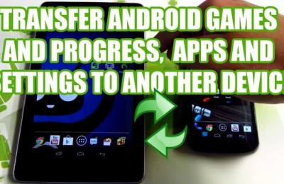 How to transfer games from one smartphone to another?