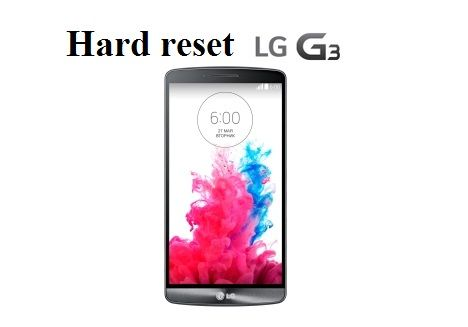 Hard reset on LG G3 from Recovery mode
