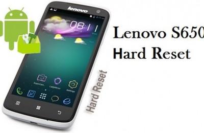 Lenovo S650 hard reset: Step-by-Step Instruction