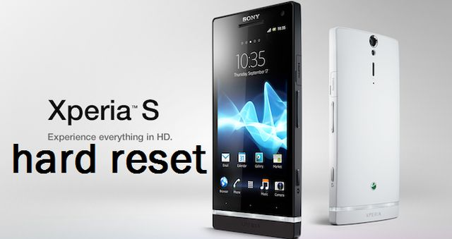 Sony Xperia S hard reset (PC Companion)