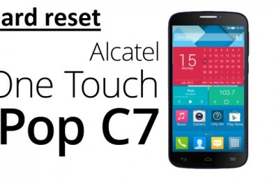 Alcatel C7 hard reset: delete all data and restore factory settings