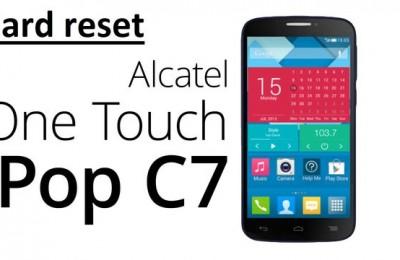 Alcatel C7 hard reset: delete all data and restore factory settings