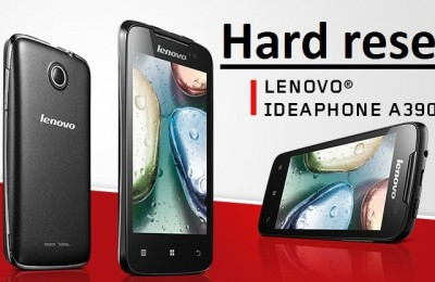 Lenovo A390 hard reset: working methods