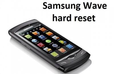 Samsung Wave hard reset: