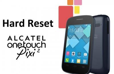 Hard reset Alcatel Pixi 2: restore factory settings