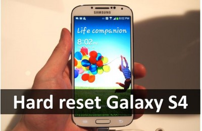 Hard reset Galaxy S4: settings menu and recovery mode