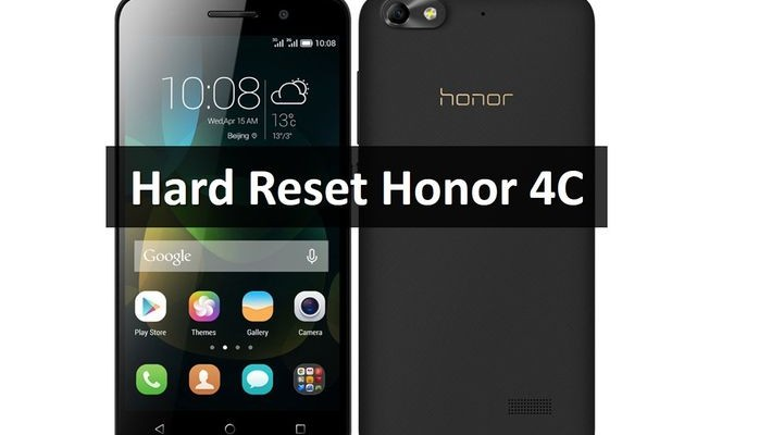 Hard Reset Honor 4C: restore factory settings