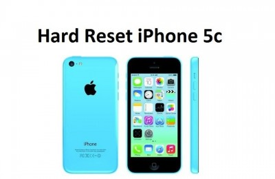 Hard reset iPhone 5c: reset settings and delete data