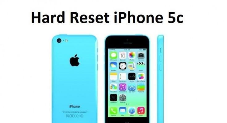 Hard reset iPhone 5c: reset settings and delete data