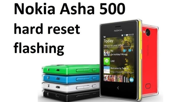 Nokia Asha 500 hard reset: flashing the smartphone
