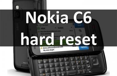 Nokia C6 hard reset: reset smartphone on Symbian