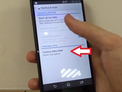 Sony Xperia Z3 Compact hard reset
