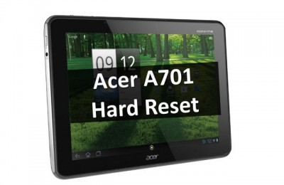 Acer A701 Hard Reset: Simple Method