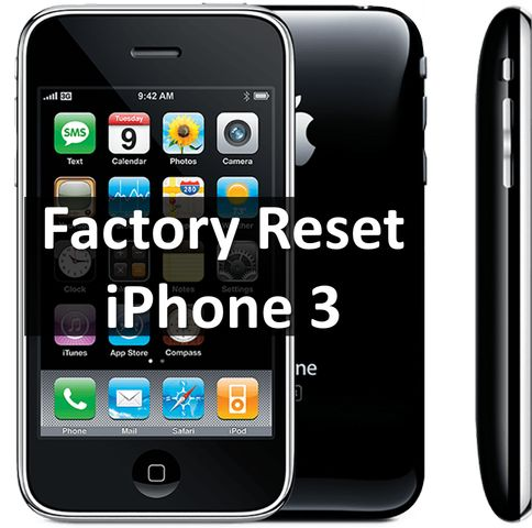 reset iphone to factory factory reset iphone 3 how to restore phone 6503