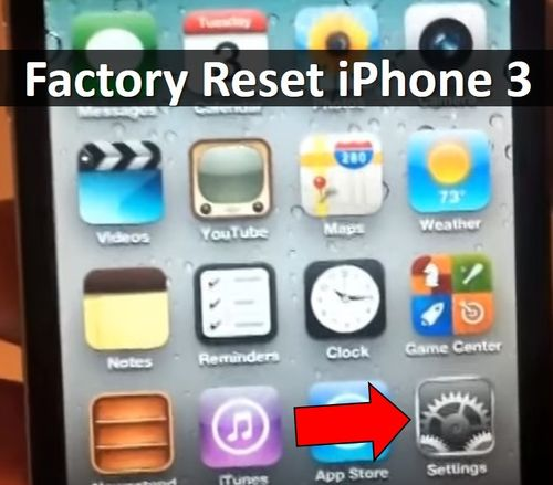 Factory reset iPhone 3: How to Restore Phone?