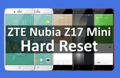 ZTE Nubia Z17 Mini hard reset and wiping (Tutorial)